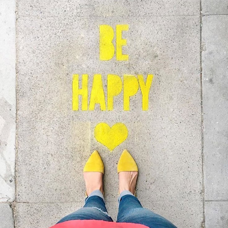 be happy image from instagram