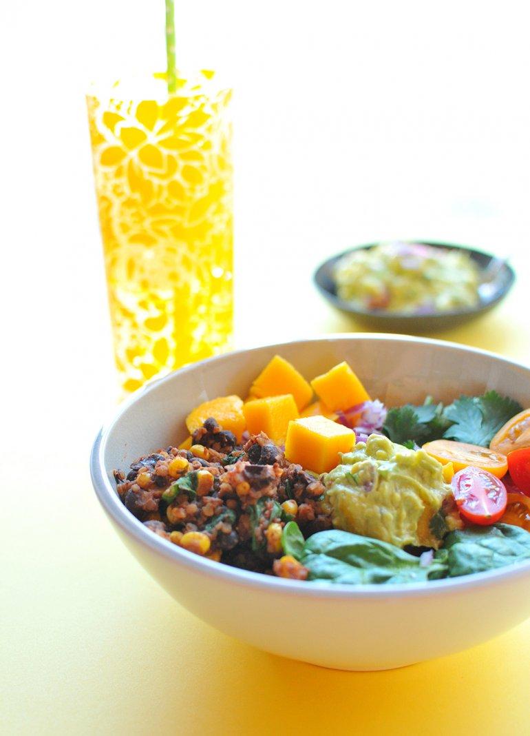 vegetarian taco buddha bowl