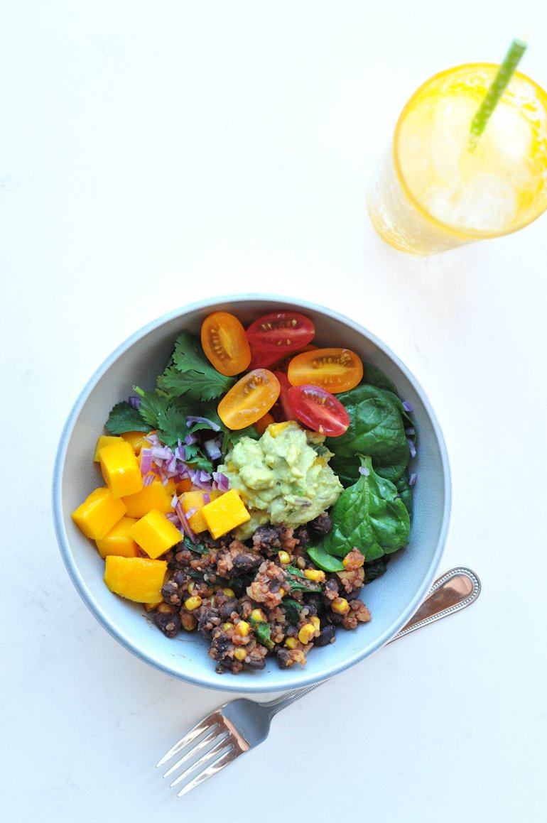 beans and greens buddha bowl