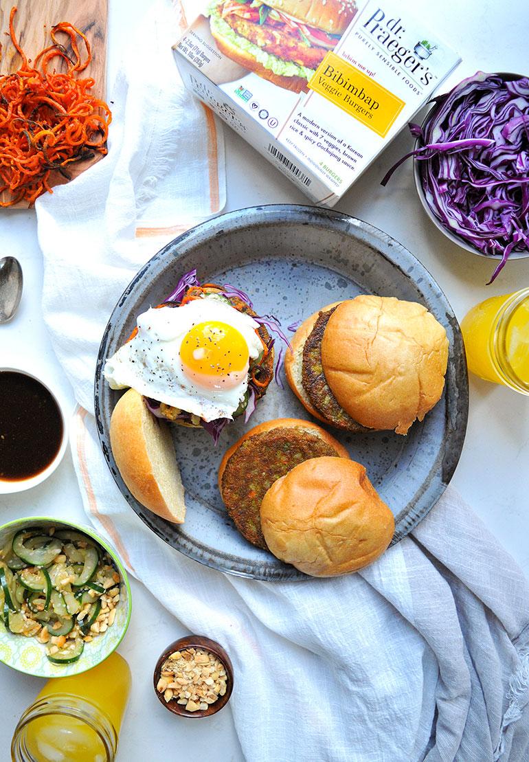 korean bbq dr praeger's bibimbap burgers