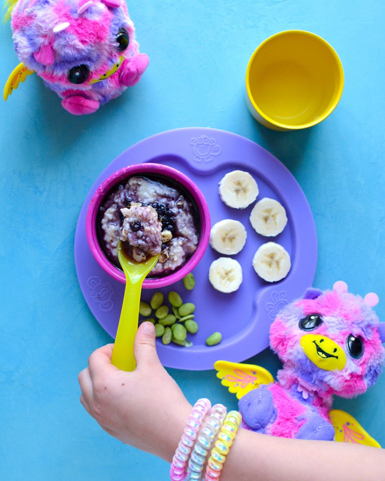 blueberry oatmeal bowl kid version