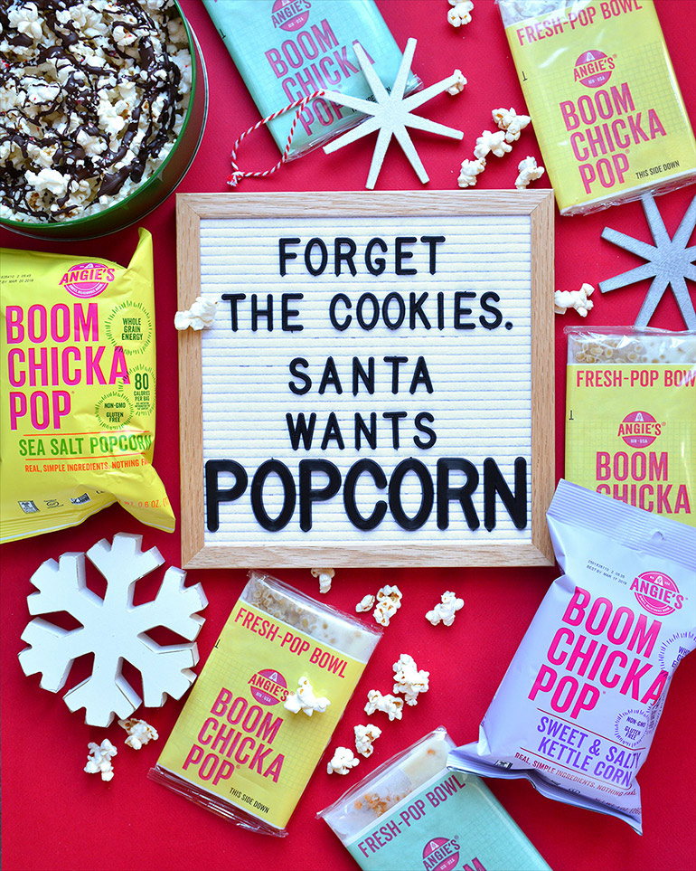 letterboard with popcorn