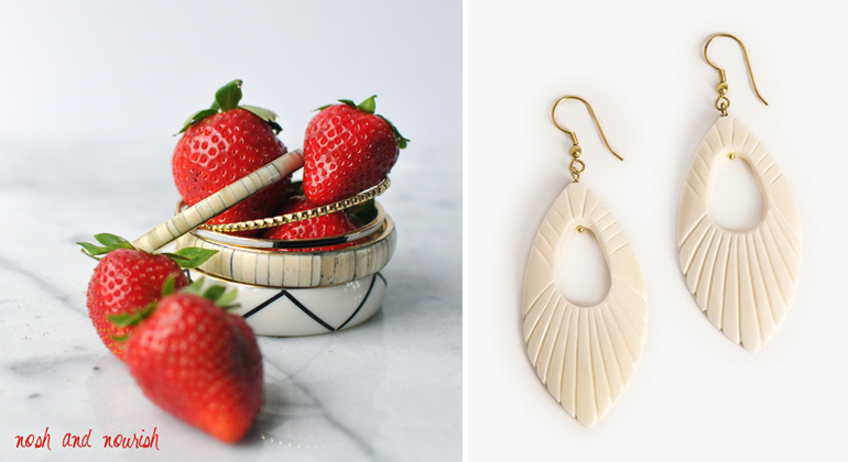 noonday bangles and plume earrings