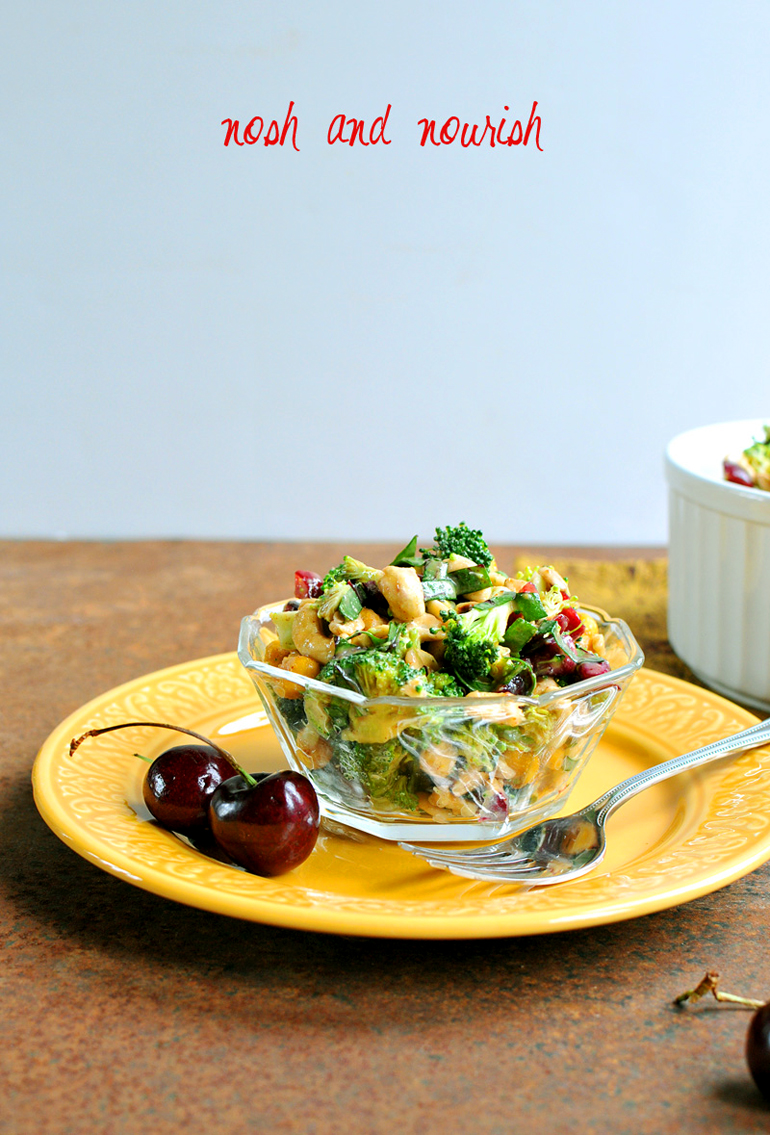 broccoli cherry salad bowl