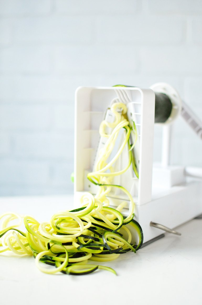 zoodles made with the inspiralizer