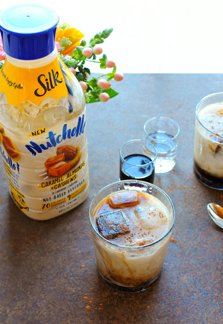 caramel white russian with silk
