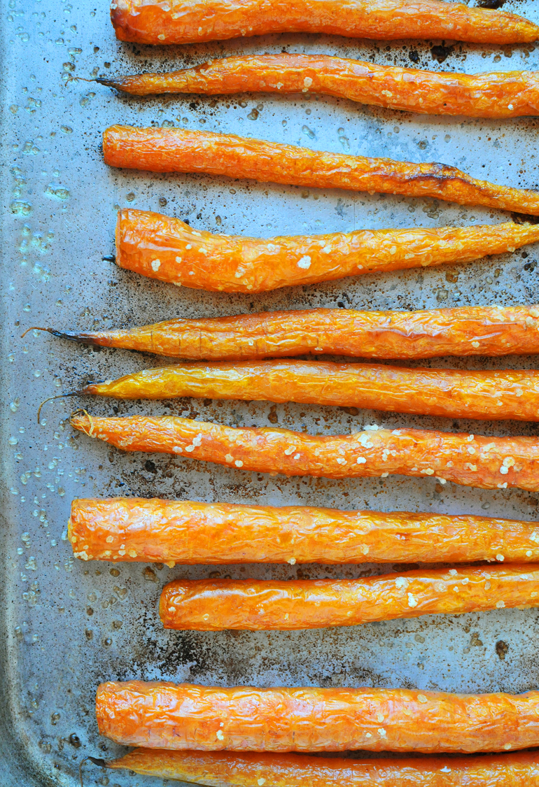 roasted carrots with olive oil and sea salt