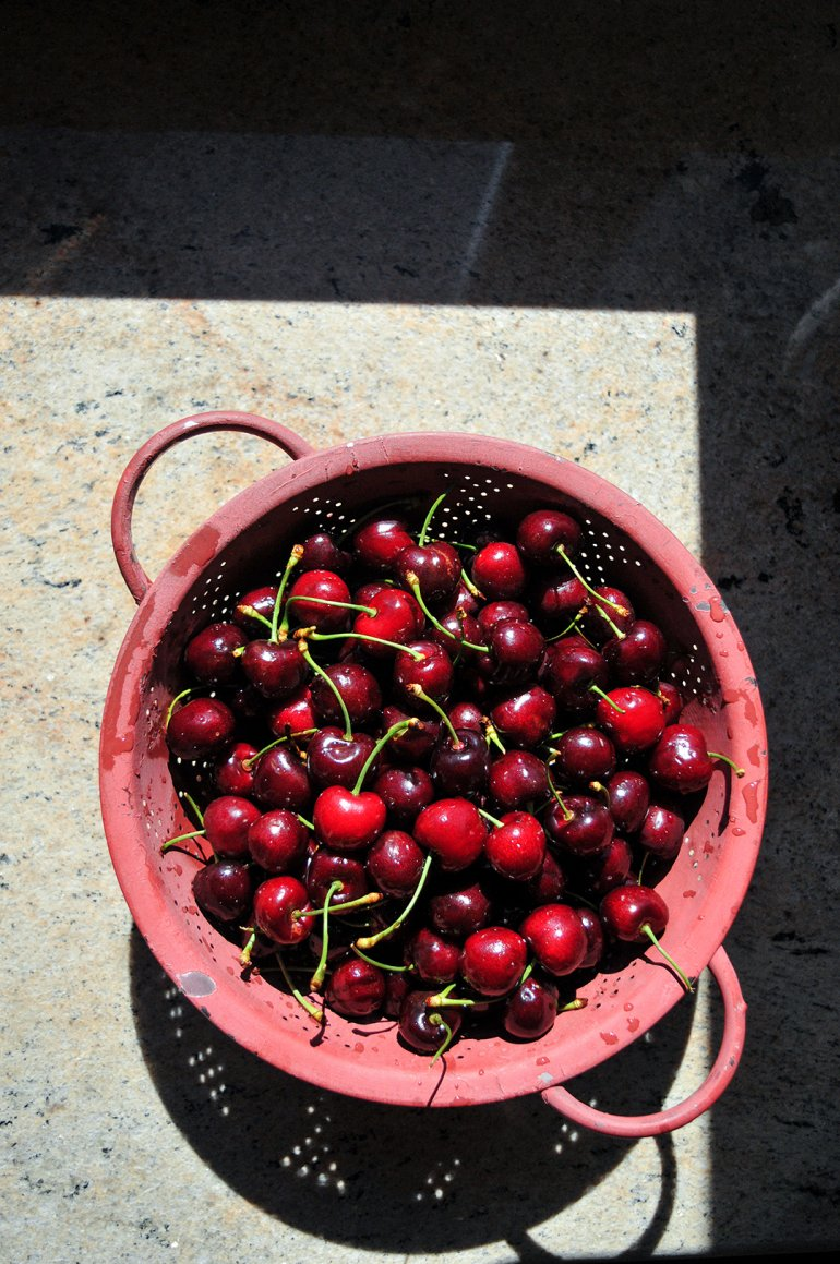 cherries in sunshine