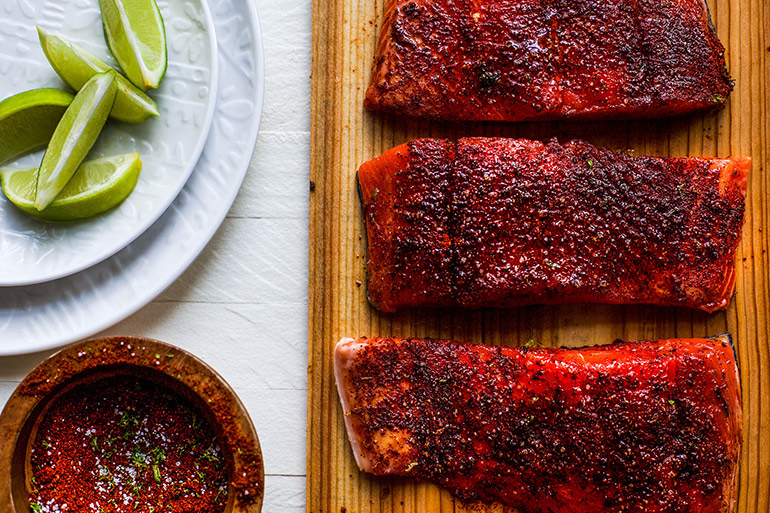 grilled chili lime salmon