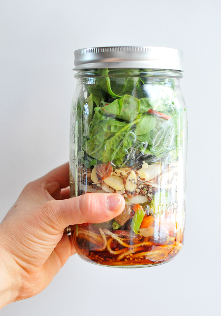 chinese mason jar salad