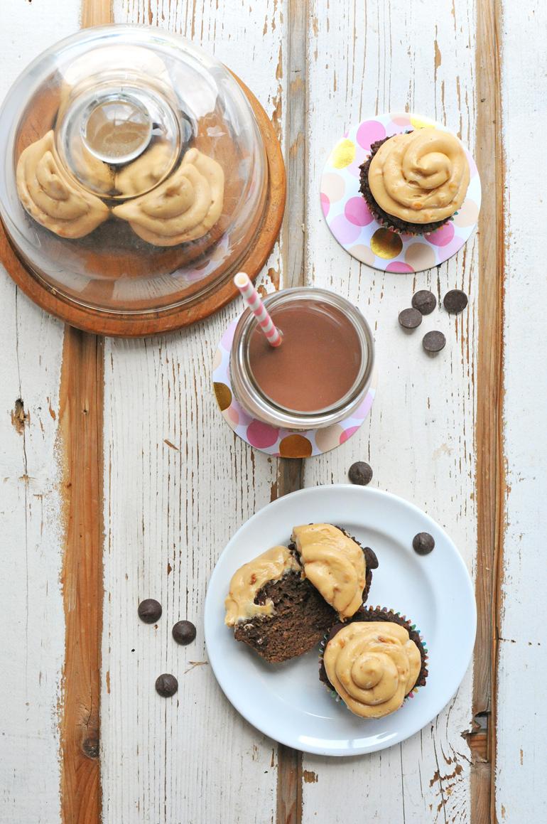 grain-free triple chocolate cupcakes