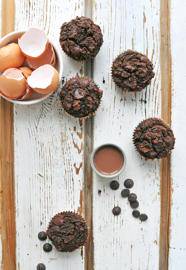 triple chocolate grain-free cupcakes