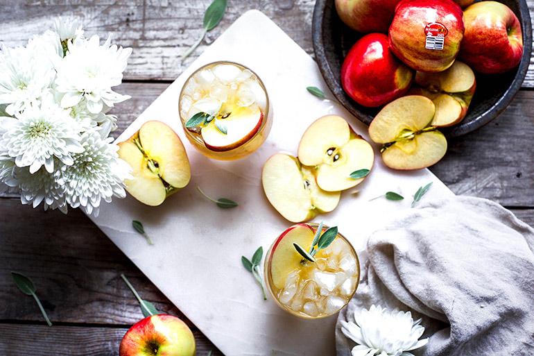 apple sage bourbon mule