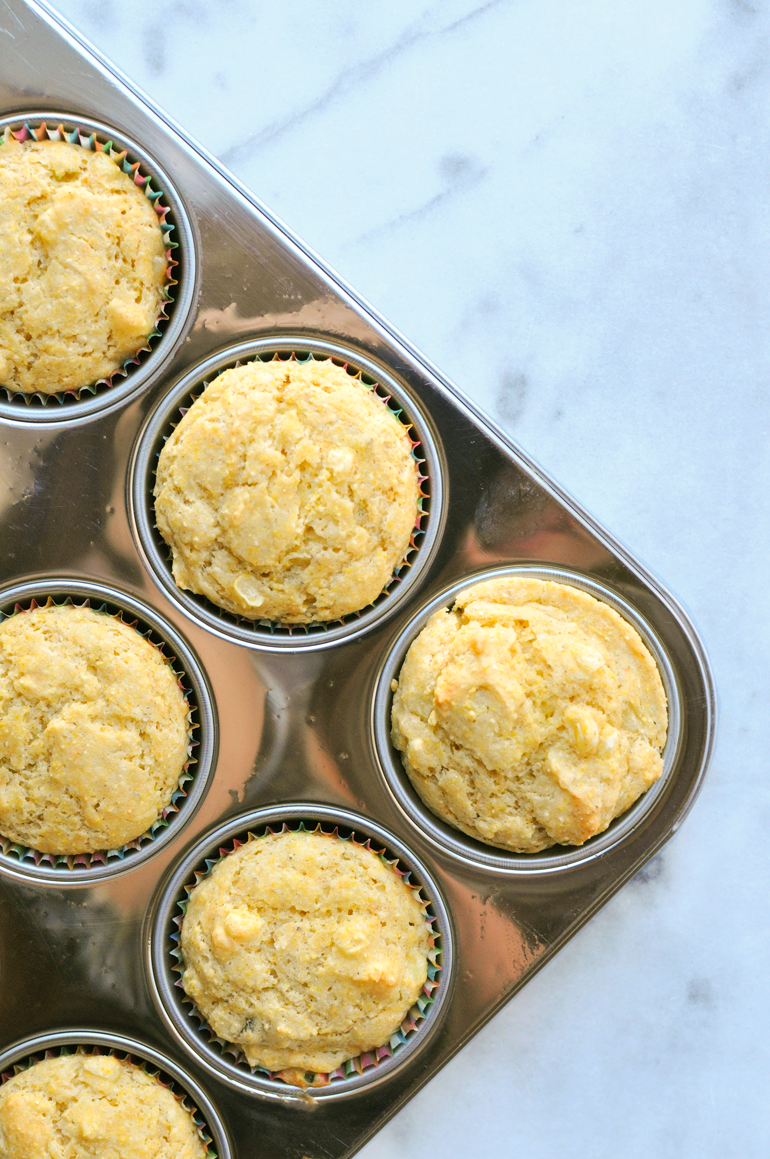 cornbread muffins in tin