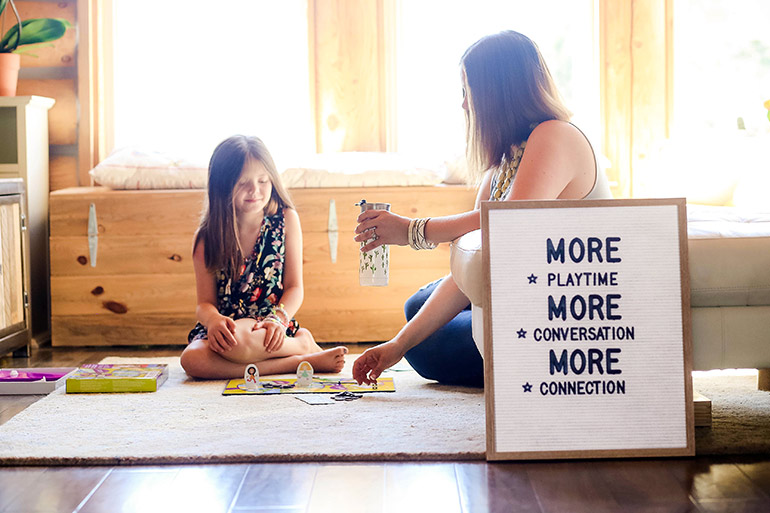 summer playtime letterboard with Silk creamer