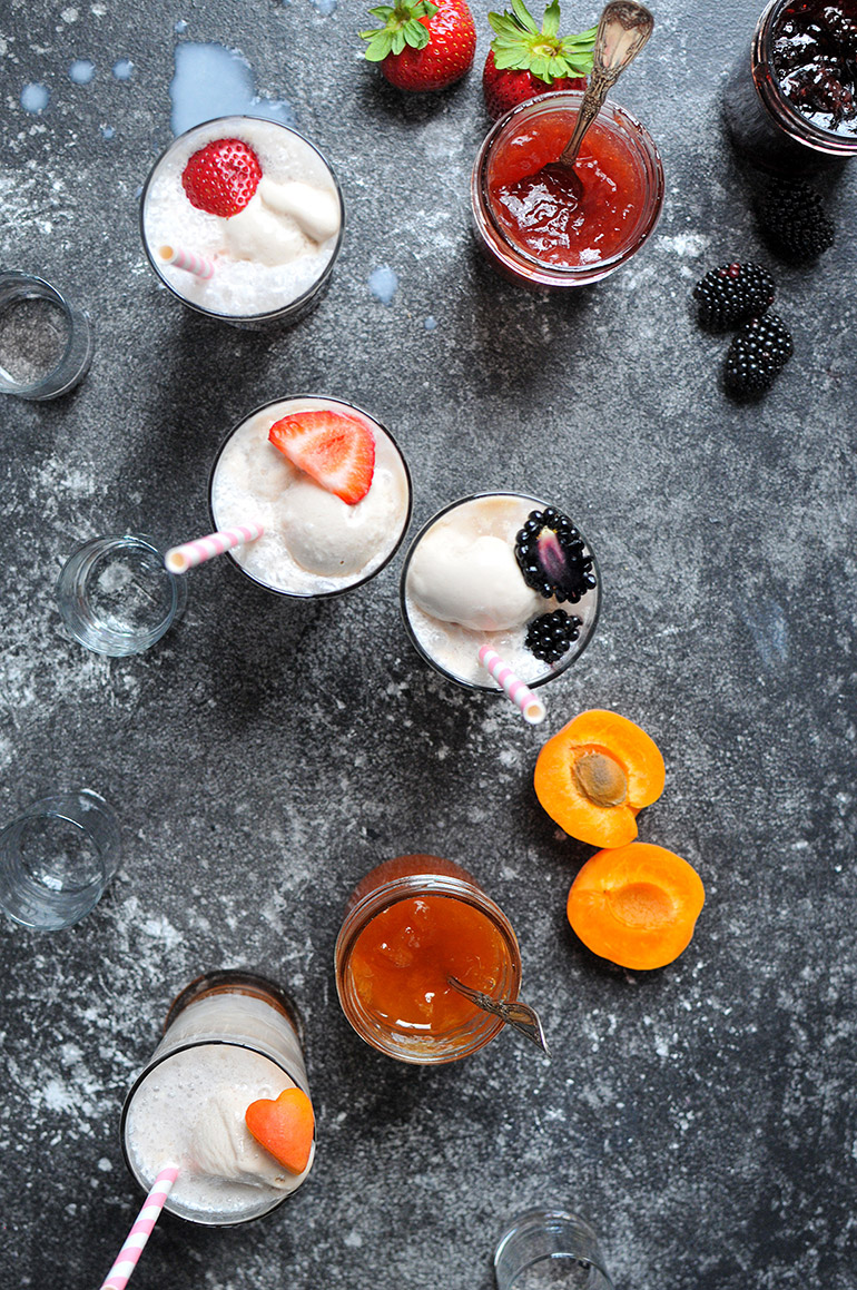 boozy ice cream floats with Silk