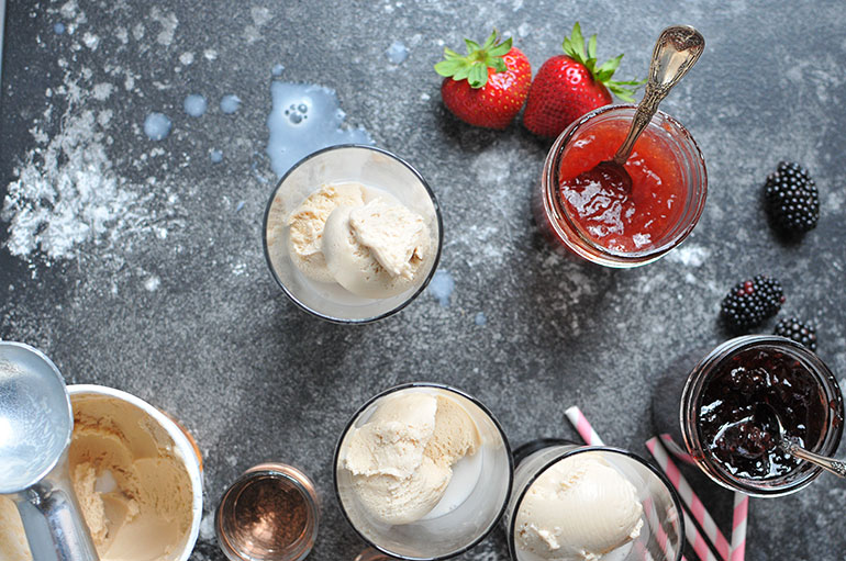 boozy ice cream float spill
