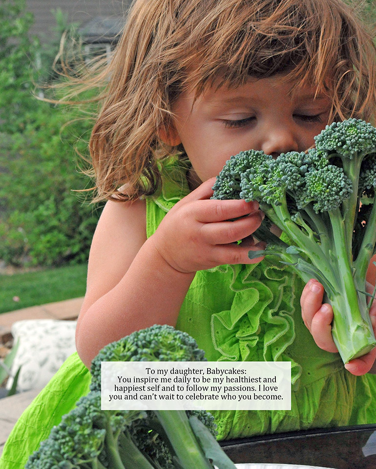 babycakes smelling broccoli