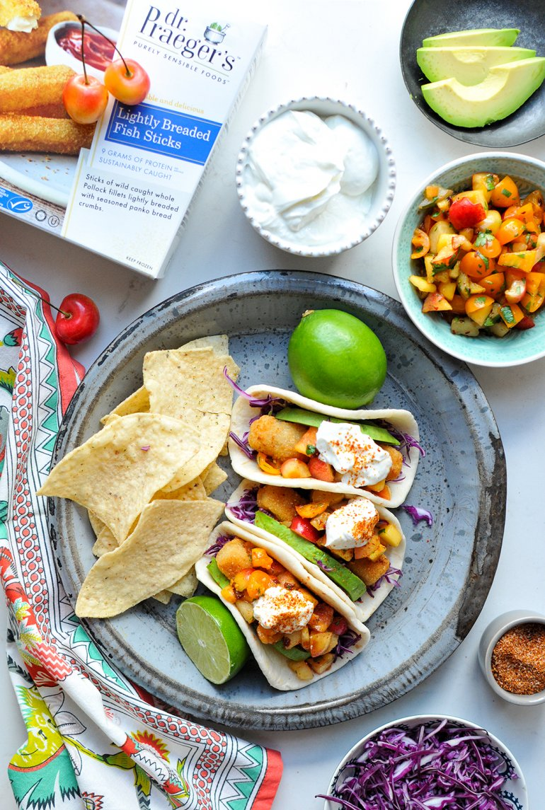 easy fish tacos with dr praegers