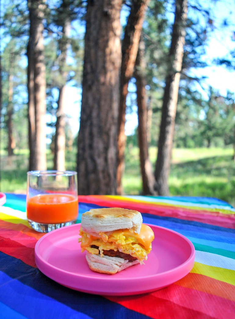 easy breakfast biscuits for glamping