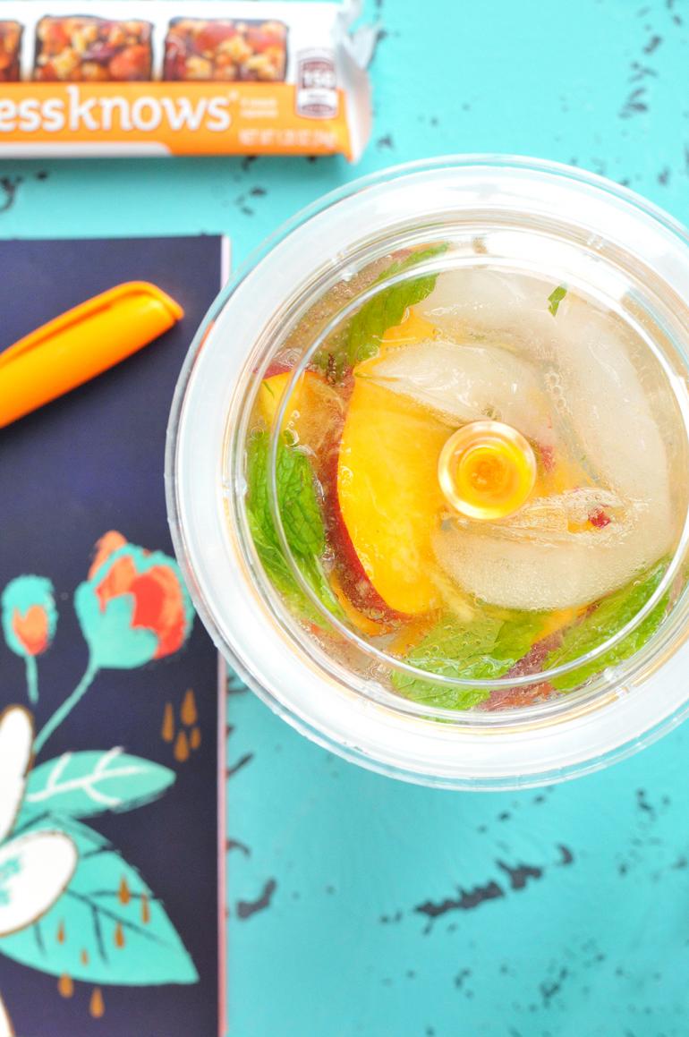 sparkling peach green tea