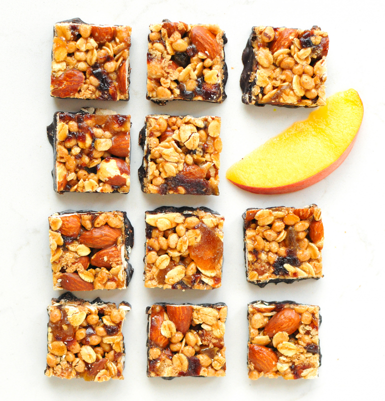 goodness knows peach squares