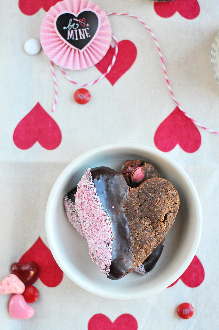 valentines cookies made with coconut flour
