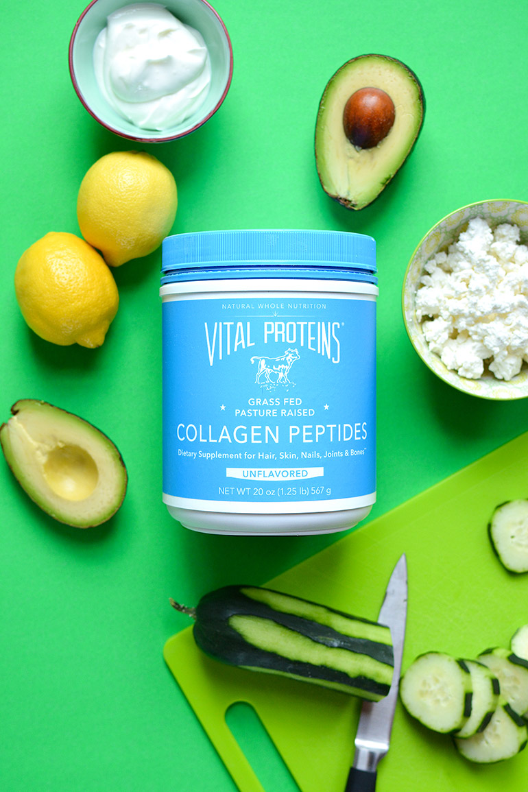 avocado tzatziki with vital proteins collagen peptides