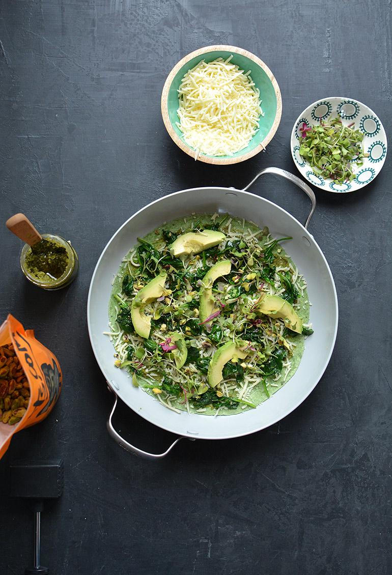 green goddess quesadilla inside