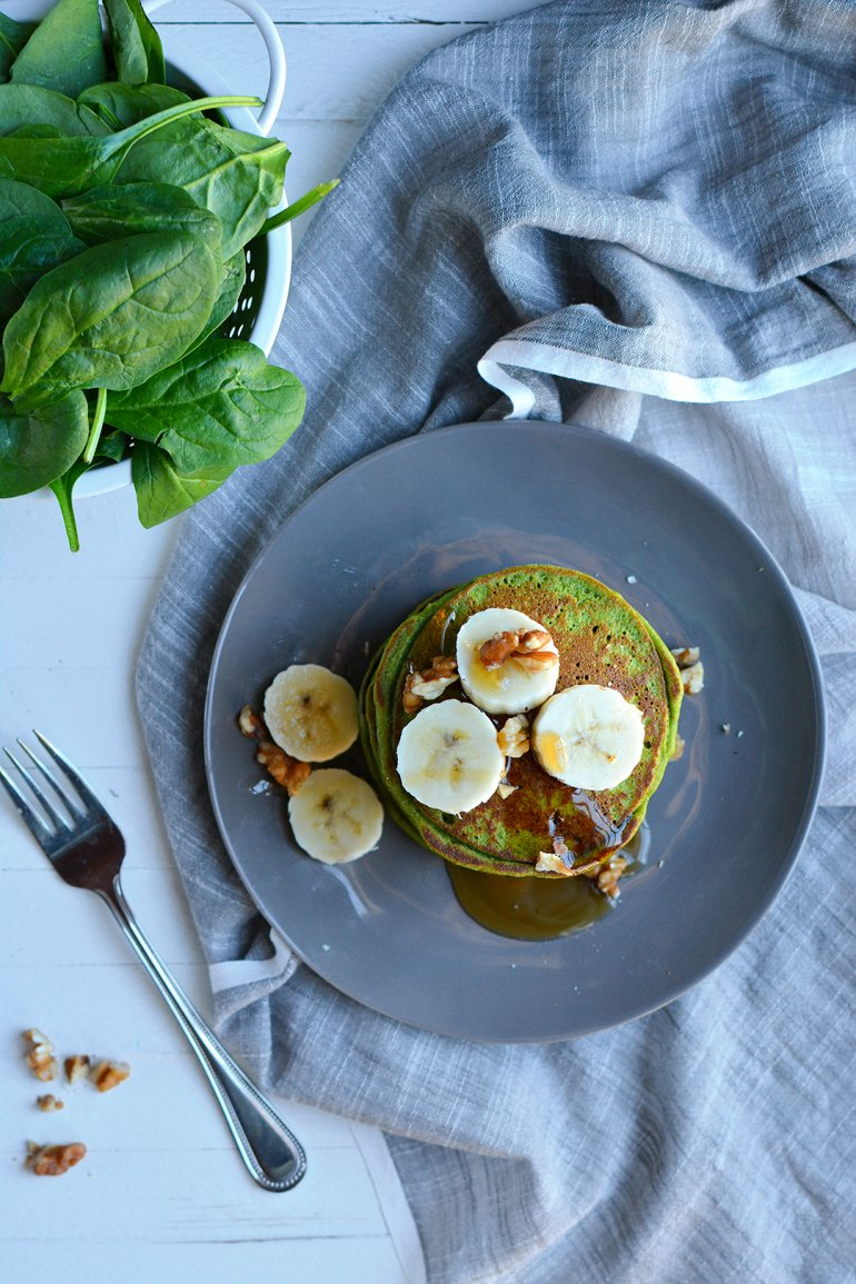 green smoothie pancakes from above