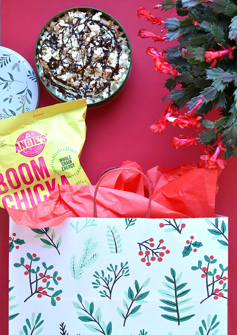 holiday movie themed gift bag