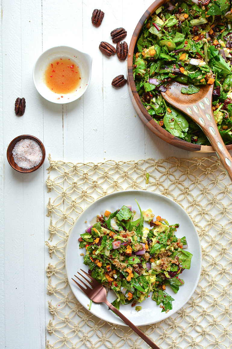 autumn harvest chopped salad from above