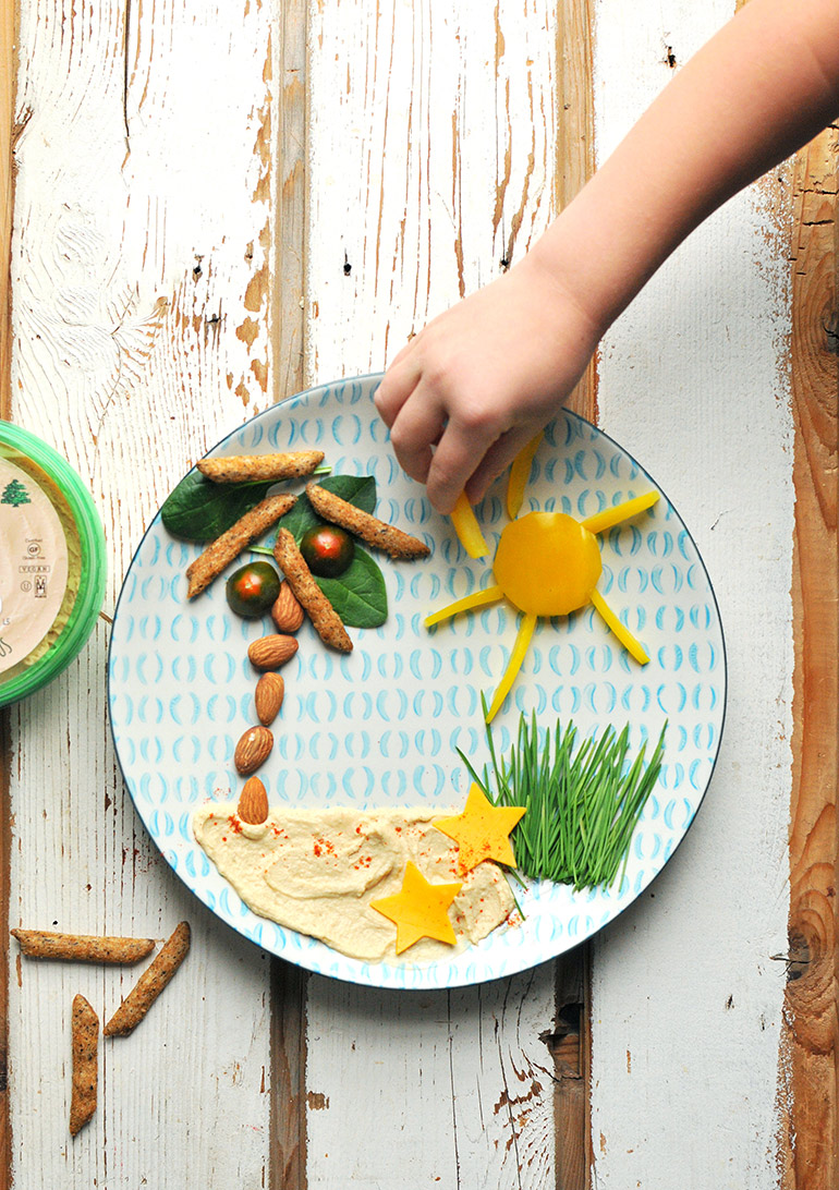 hommus snack plate for kids