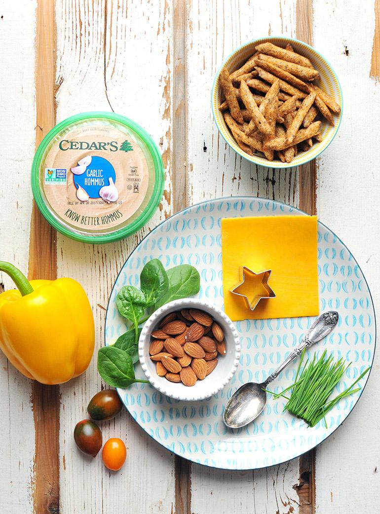 hommus snack plate ingredients
