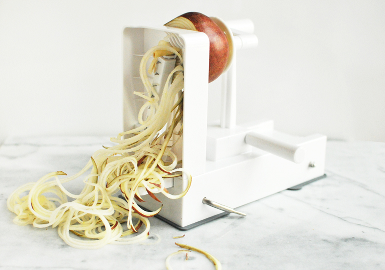 inspiralizer with pear noodles