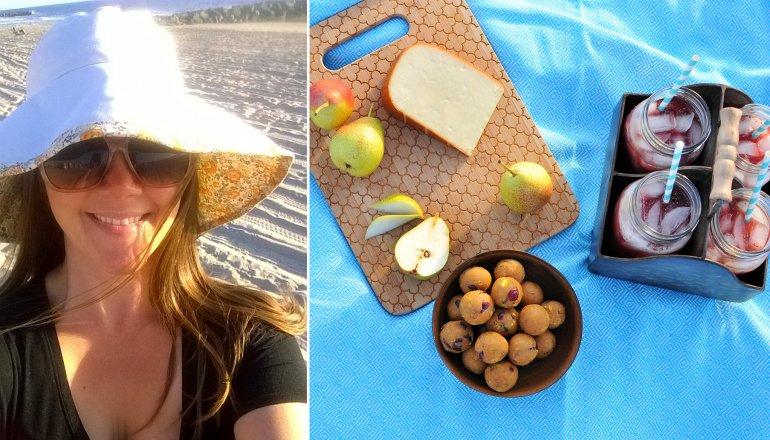 kel beach selfie with picnic