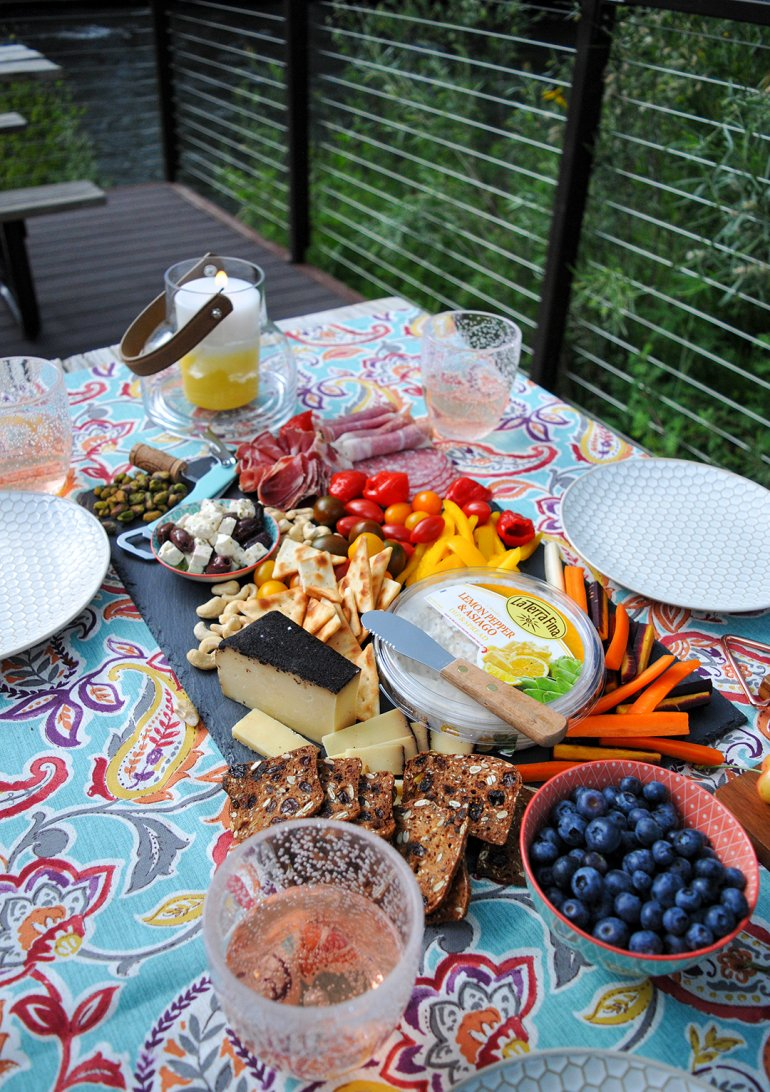 la terra fina outdoor picnic with charcuterie