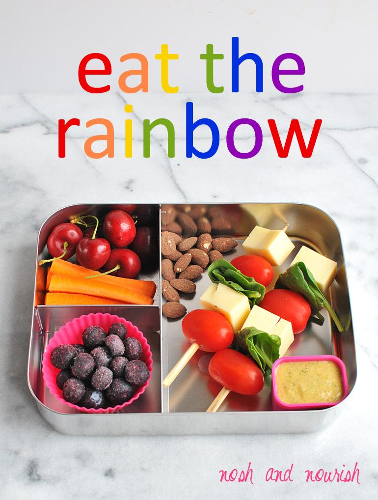 rainbow healthy lunchbox