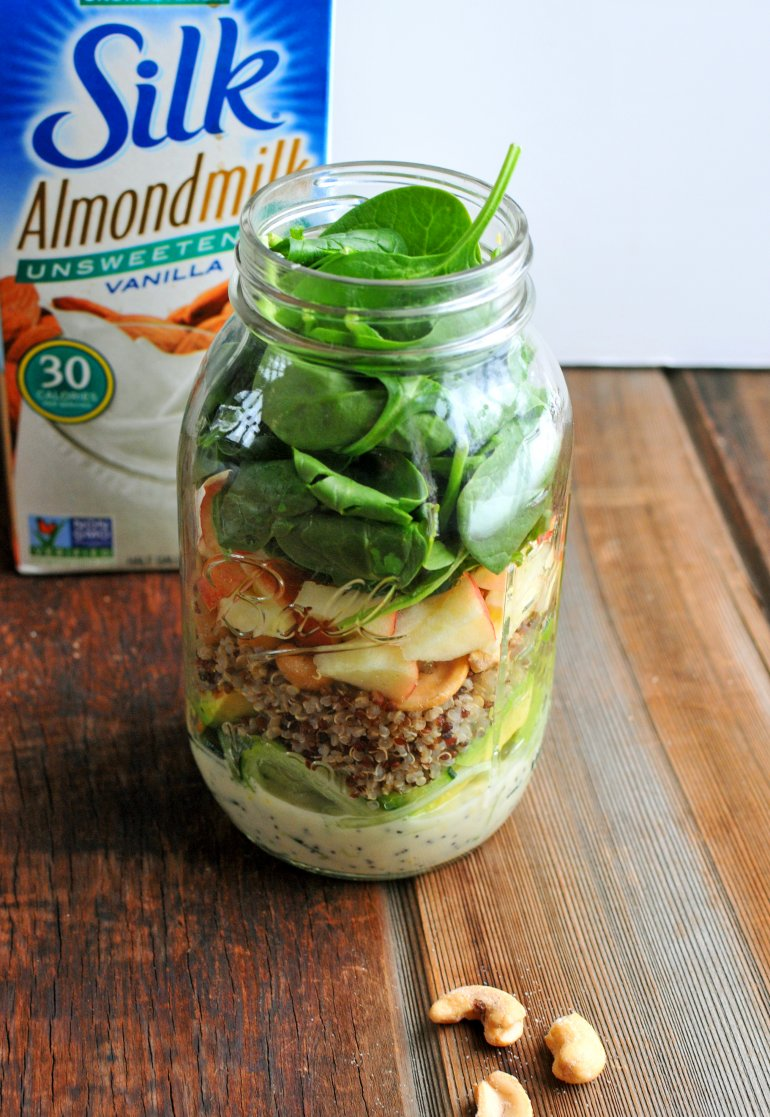 mason jar cucumber noodle salad