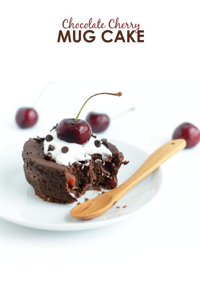 chocolate cherry mug cake