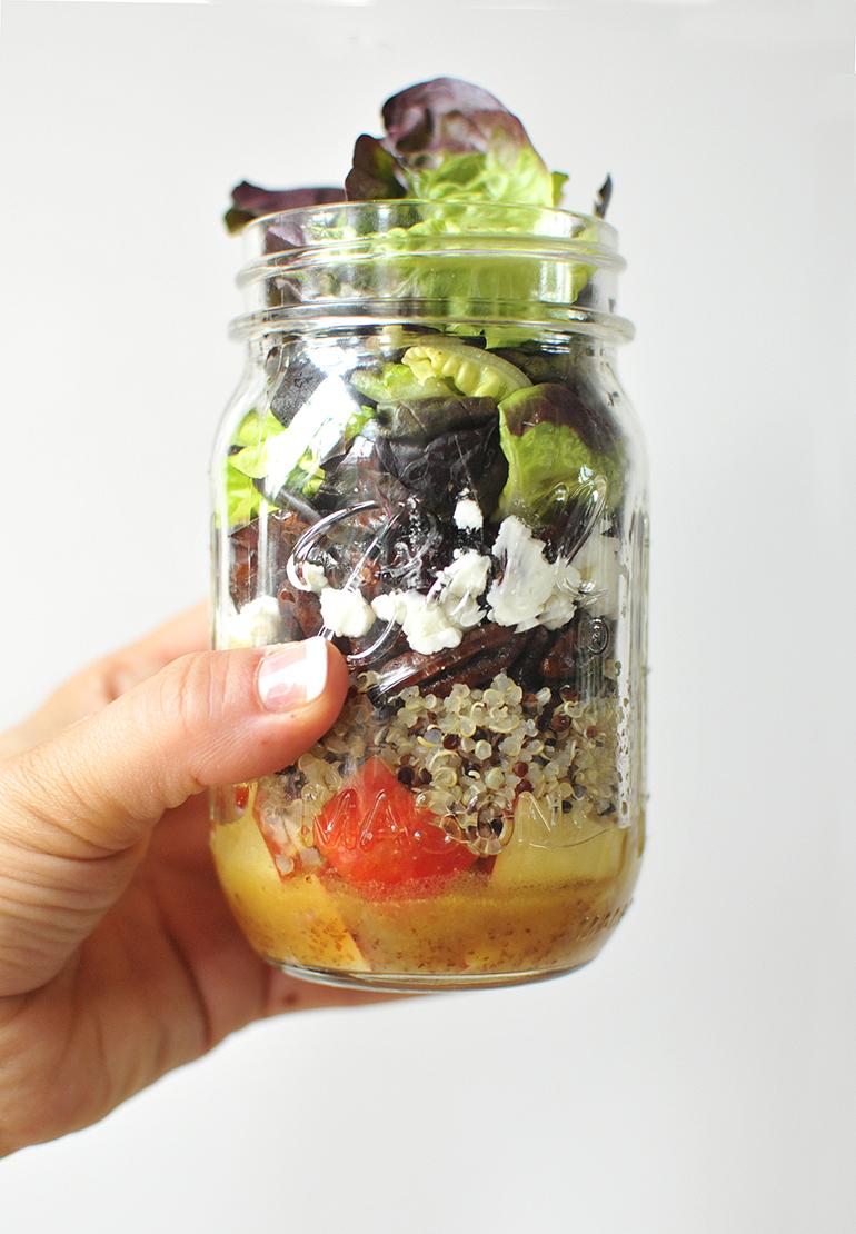 apple harvest mason jar salad