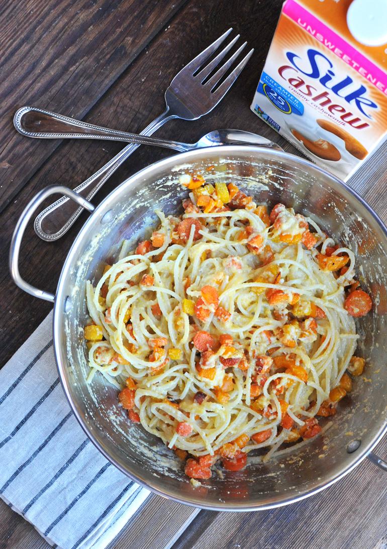 orange power pasta silk