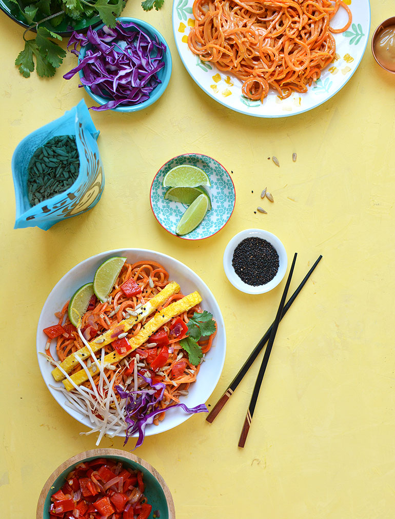 paleo pad thai with nutsdotcom