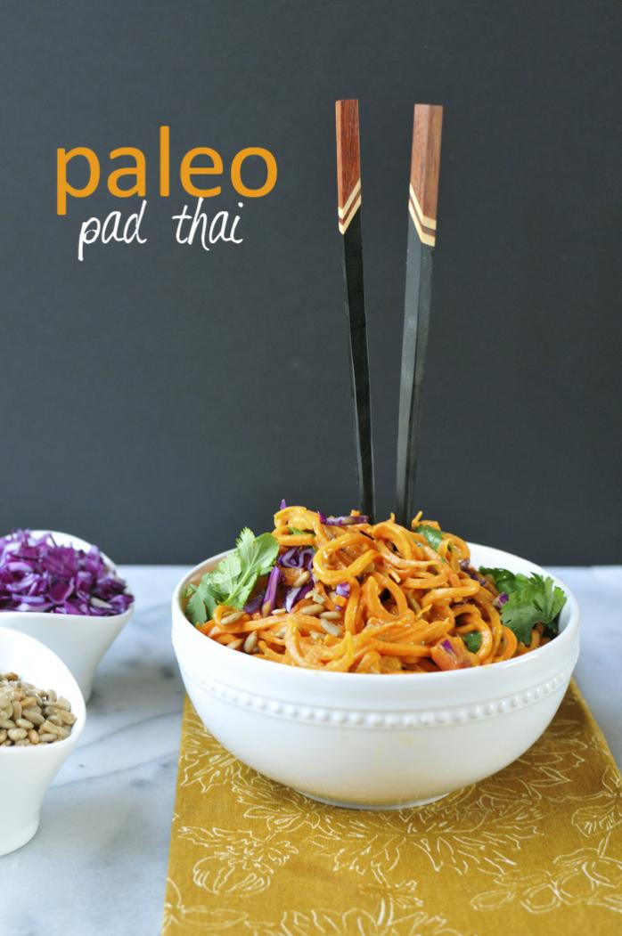 Paleo Pad Thai with Carrot and Sweet Potato Noodles Nosh and Nourish