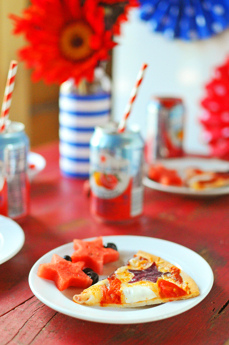 patriotic pizza perfect for 4th of July