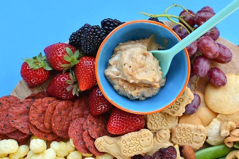 pbj dip for snack board