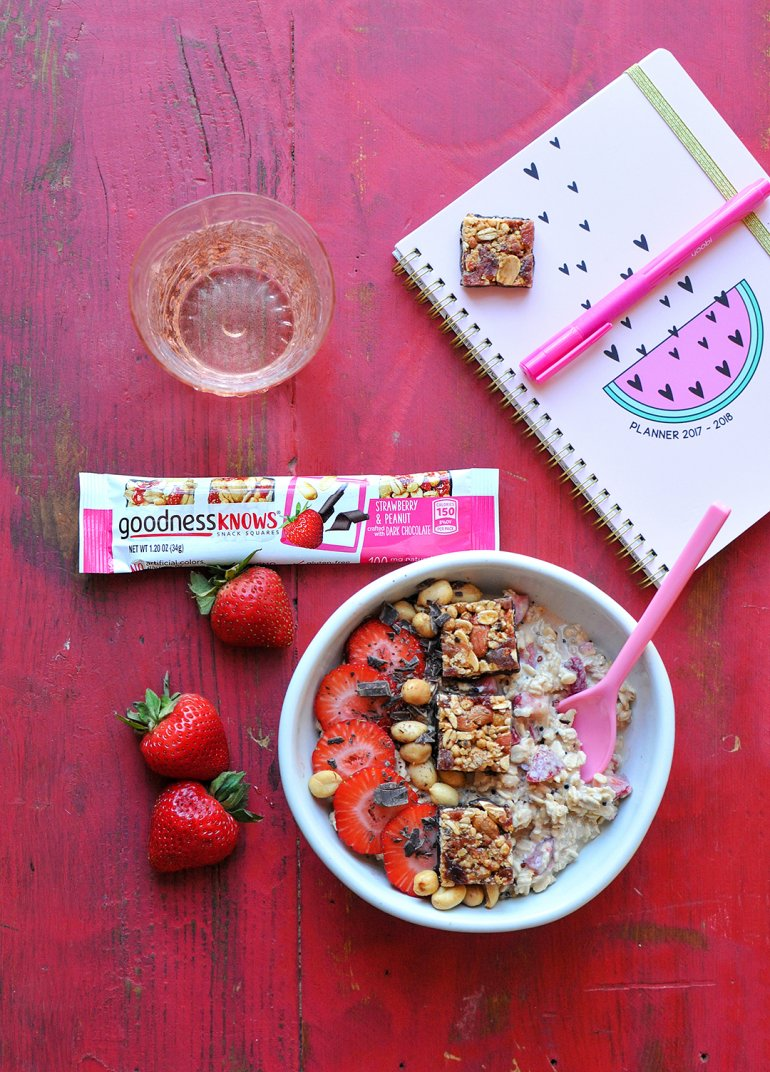 goodness knows strawberry squares with overnight oats