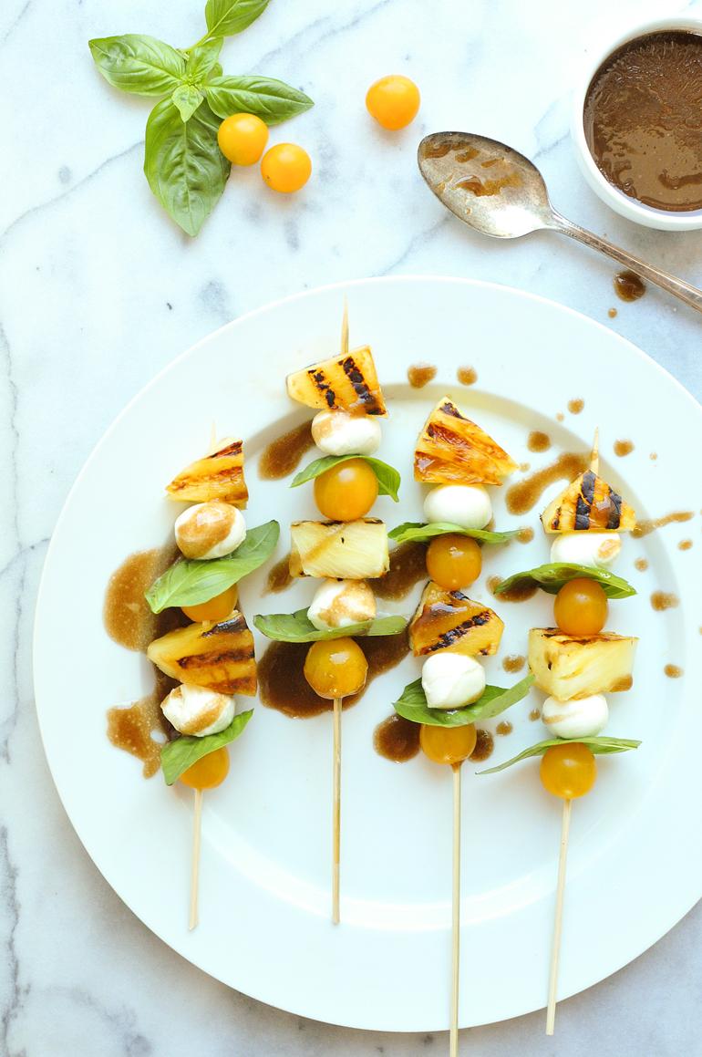 pineapple caprese skewers appetizer
