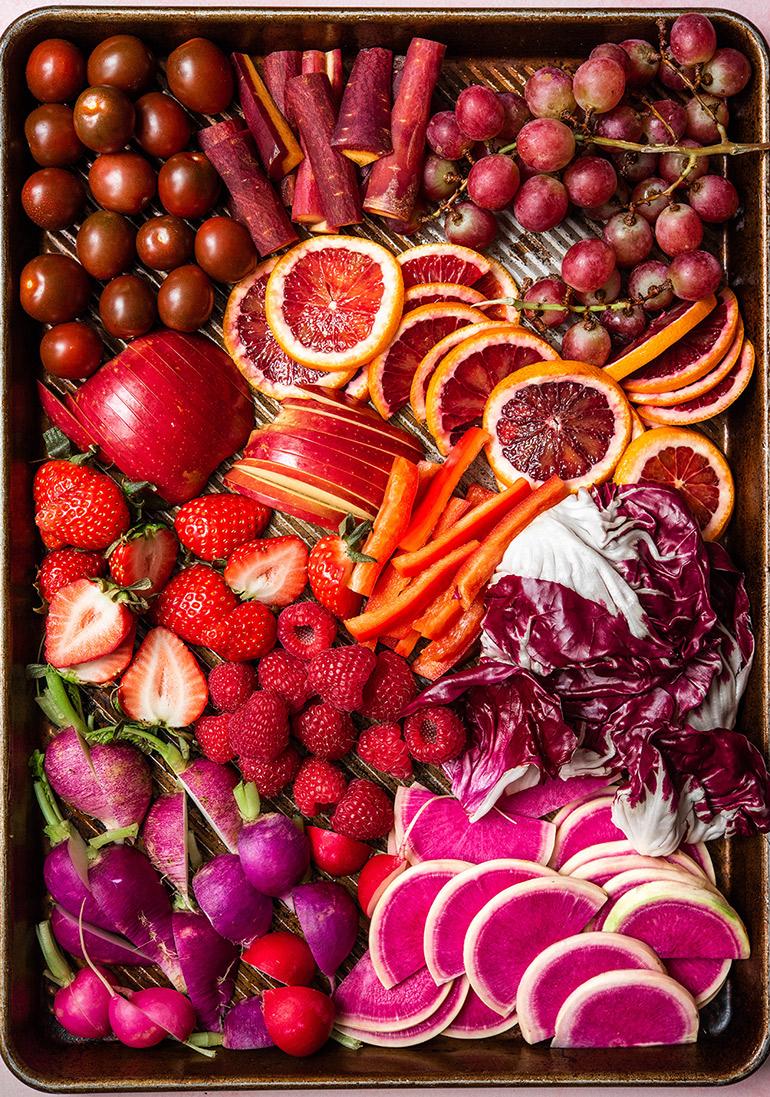 vegan snack board prep
