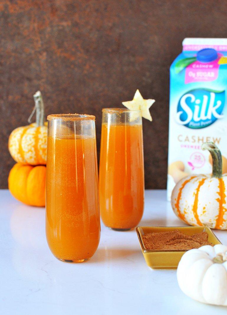 pumpkin pie cider fizz with silk